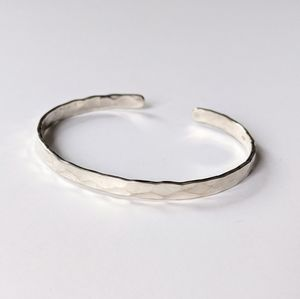 Jewelry - Textured Sterling Silver Bracelet